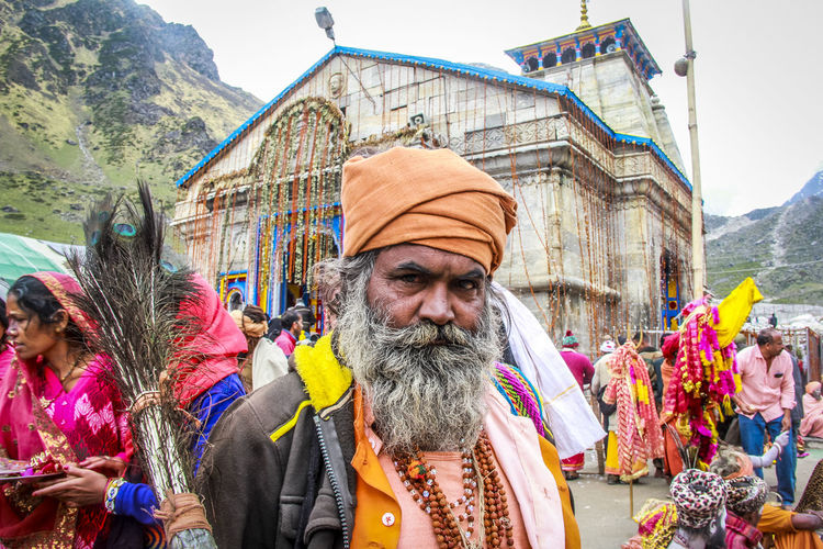 Beard Day India Kedarnath_temple Lifestyles Men One Person Outdoors Outside People People Photography Portrait Real People Sadhu The Portraitist - 2017 EyeEm Awards Travel