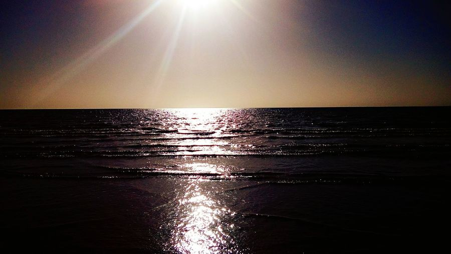 Minab @_ahmad_zakri_ Water Sea Sunset Wave Beach Clear Sky Sunlight Sun Sky Horizon Over Water First Eyeem Photo