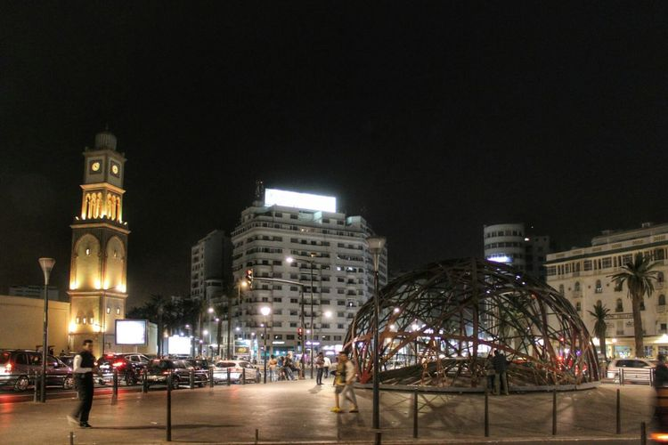 Casablanca Maroc Photography Nightphotography Maroc Morocco Night Lights Panoramic Photography
