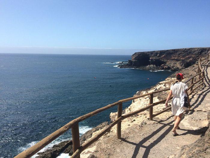 Walking Around the Cliffs of ajuy during our Roadtrip in Fuerteventura Capturing Freedom