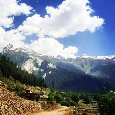 Beautiful Swat Valley Pakistan lush green scenery evergreen trees snowy snowcovered mountains peaks mountainous landscape trekking hiking naturelovers nature escapists heaven tourism travel roadtrip instatravel