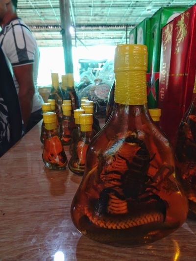 ASIA Exotic Experimental Ho Chi Minh City Mekong Delta Mekong River Snake Vietnam Adveture Alcohol Bottle Close-up Drink Experience Food And Drink Refreshment Scary Scorpion Snake Wine Snakewine Southeast Asia Southeastasia Wild Animals Wild Animals Up Close Wine