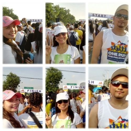 SPOT THE DIFFERENCE FROM START TO FINISH! AHAHAHA! Just noticed while uploading this Picture Hahaha Funny Kapamilya60years funrun walk onerun moments lovedones bayantel abscbn igers instapic instamag healthylifestyle keepingfit fitness sweat white