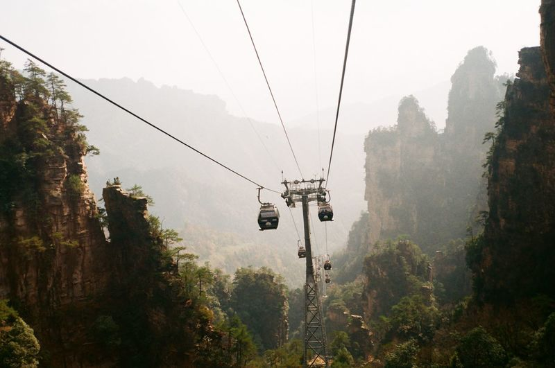 China Nature Outdoors Overhead Cable Car Cable Car Cable Tree Transportation No People Mode Of Transportation Beauty In Nature