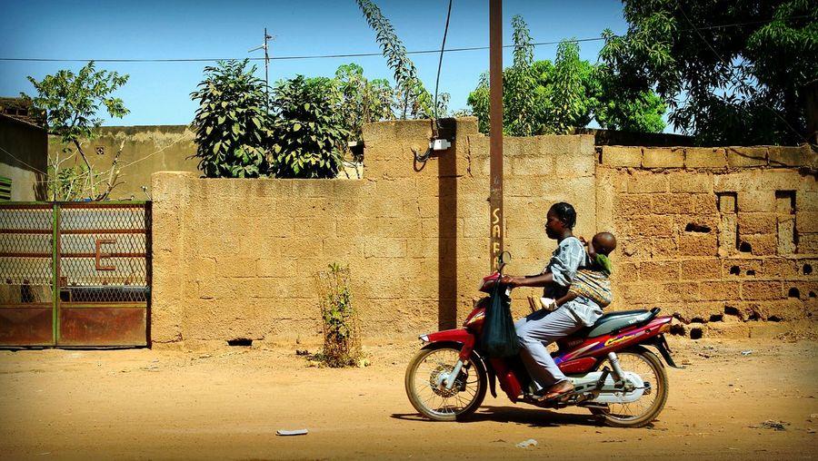 Project 55 min - 2/55 📷 Africa Burkina Faso Ouagadougou Street Project55min Scooter Riding  Hangup Motherandchild