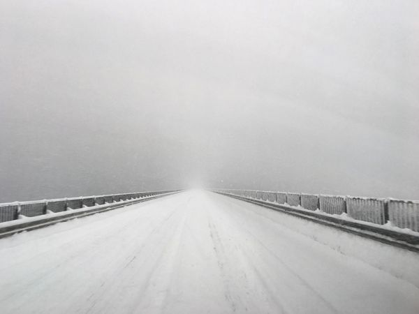 Winter Snow Cold Temperature Road White Color Outdoors Snowing Nature