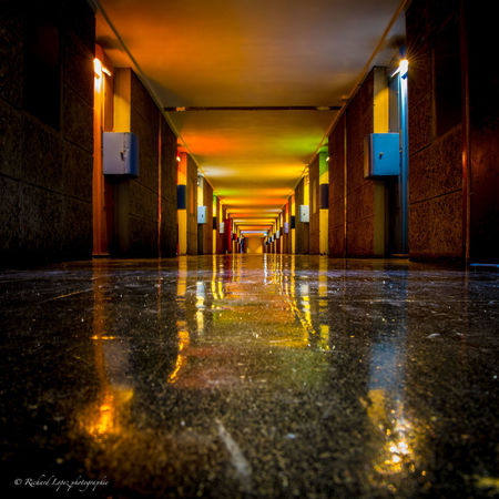 Le Corbusier Couleurs Marseille Architecture Indoors  Inside Lecorbusier No People Reflection