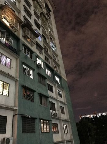 Window Architecture Building Exterior No People Built Structure Night Apartment City Sky Outdoors