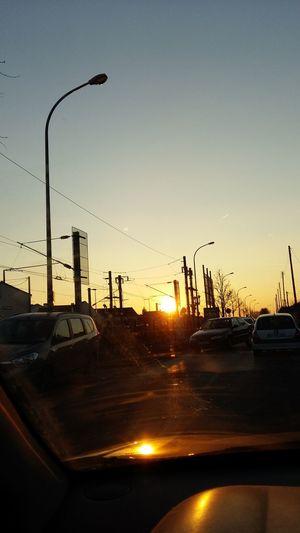 Sunset Car Sky