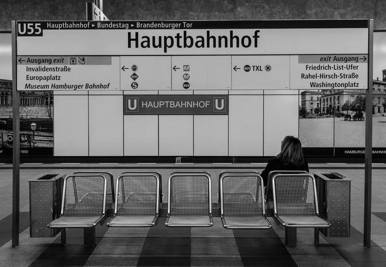 Sign Board At Berlin Hauptbahnhof Station