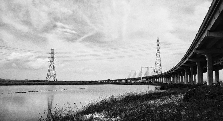 Bridge Costal Highway Shenzhen Blackandwhite Photography