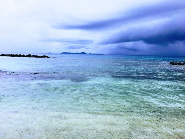 Sky Sea Beauty In Nature Water Nature Scenics Cloud - Sky Tranquility Outdoors Horizon Over Water Tranquil Scene No People Day Beach EyeEmNewHere First Eyeem Photo Mustique Tropical Freshness Blue Clouds Cloudy Cloud