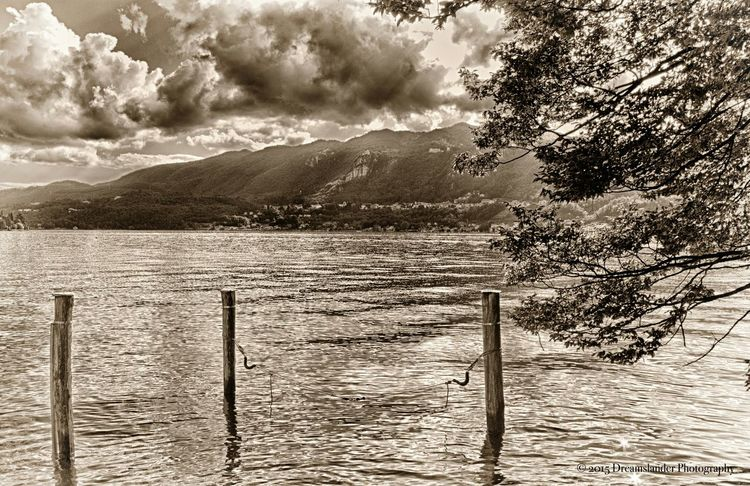 Lake View Sea And Sky Malinchonic Landscape Monochrome Black & White Blackandwhite Photography Monochromatic Mountains And Sky
