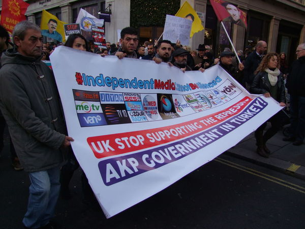 Turkish Protest, Regent Street 5 November 2016 Adults Only Banner Banner - Sign Composition Crowd Flags Full Frame GB Large Crowd London Newsworthy Outdoor Photography Participants People Politics Protest Protesters Rally Script Text Turkey Turkish Uk