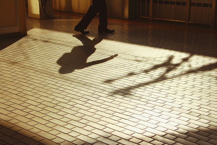 Rush Hour Cityscape City Tramway Train Station Running Rush Hour Kyoto Japan Japan Photography Tiles Waiting Shadows & Lights Shadow Floor Low Section Shadow Human Leg Walking Human Foot Shoe Sidewalk Adventures In The City The Street Photographer - 2018 EyeEm Awards Capture Tomorrow