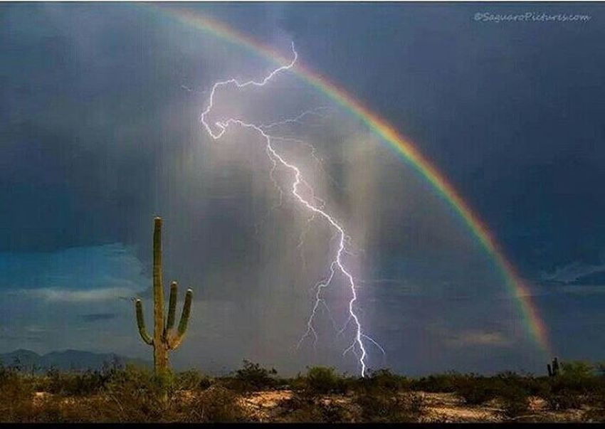 So pretty Lightening Rainbow Desert Photography Lovethis