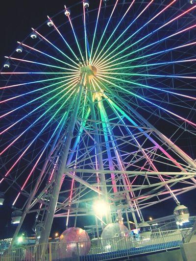 Colorful wheel Ferriswheel Tagaytay Skyranch