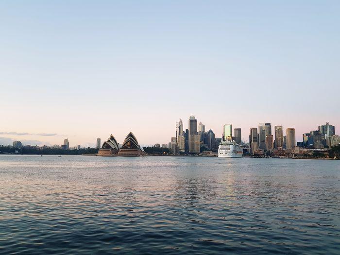 Opera House Sydney Harbour I Love Sydney Outdoors EyeEm Selects City Cityscape Urban Skyline Clear Sky Skyscraper Modern Water Sunset Sea Harbor Waterfront