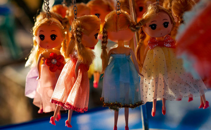 Close-up of toys toy hanging