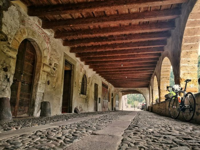 Architecture Built Structure Arch No People Ancient Road Cylist Cycle Cyclinglife Cyclingphoto Outdoors Transportation Tranquil Scene Italy Lombardia Lombardy Valbrembana