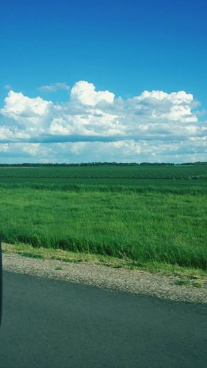 Missing summer time Manitoba Clouds Blue Prarie