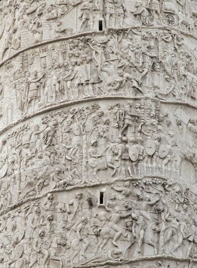Backgrounds Pattern Textured  Close-up Column Full Frame Colonna Traiana Trajan's Forum Trajan's Column Foro Di TraianoLow Angle View City Roma Italia Rome Italy Built Structure Architecture Travel Destinations Travelling