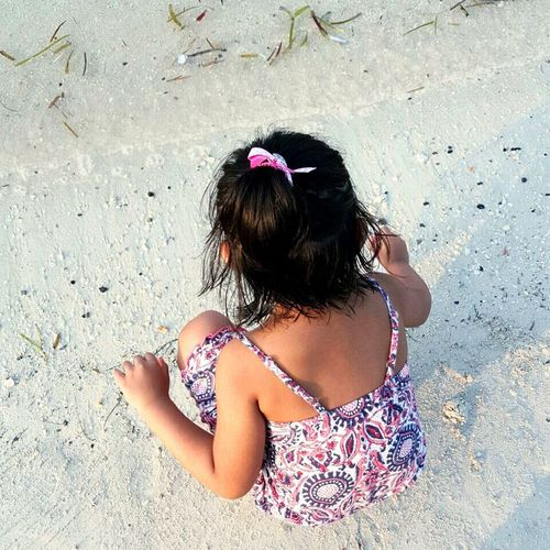 Finding New Frontiers Sand Beach High Angle View Outdoors Vacations Day Beauty In Nature Freshness Nature Cloud - Sky Sky Lifestyles Leisure Activity Sunlight Pink Color Close-up Child Sand & Sea Seaweed Kidsphotography Serenity Happiness Beach Photography Funday