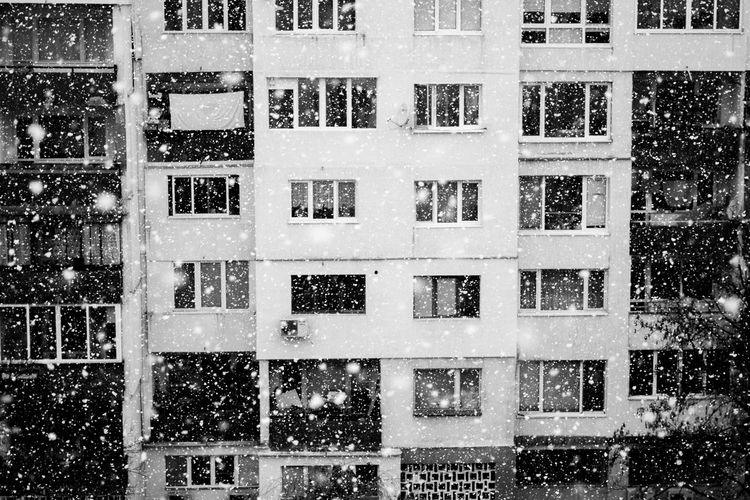 Pattern Shape No People Day Windows Window Frame Windows_aroundtheworld Building Buildingphotography Streetphotography City View  City Landscape Cityexplorer Cityphotography Blackandwhite Photography Black&white Bandw Bandwphotography Cold Snowing Snow Snow Day Snowflake Snowy Snowyday