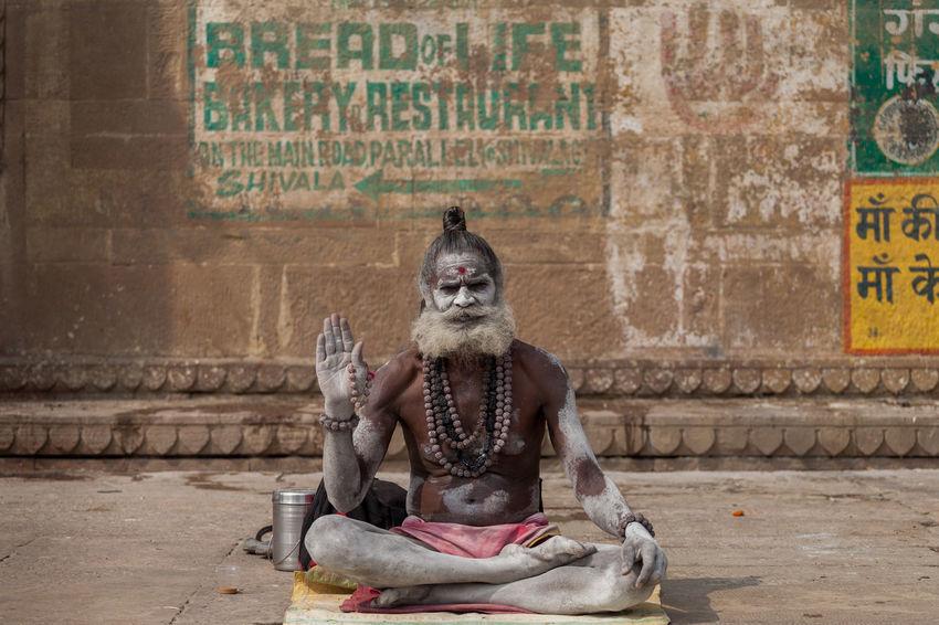 ASIA Benares India Portrait Sadhu Traditional Culture UttarPradesh Varanasi