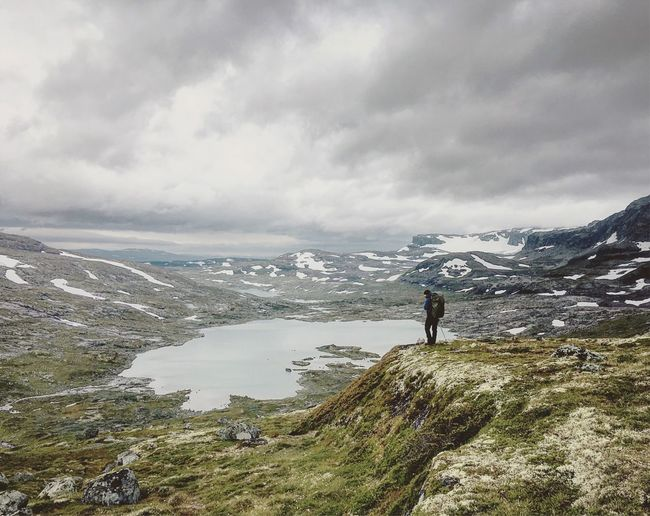 Sky Mountain One Person Real People Norway Norway Hiking Landscape Lost In The Landscape