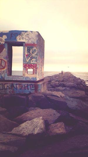 Rock way. Summer Beach Peace Love