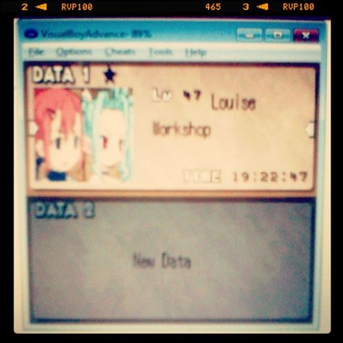 Oyeh goal complete! I finished the game within a day! GBA Emulator SummonNight2 SNSCS2 Game