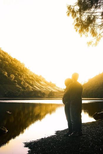 Ranukumbolo Explorejawatimur Exploremalang Ranukumbolo Sunrise Petualangan Mbolang Pesonaindonesia Lake One Man Only Adult Silhouette Adults Only People One Person First Eyeem Photo