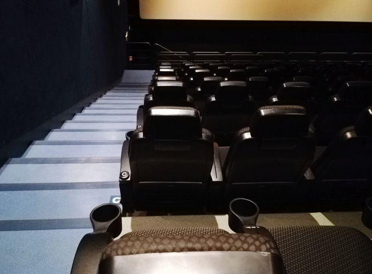 Cinema Armchairs Perspective Empty Cinema Entertainment Auditorium Nobody Event Staircase Armchairs Chairs Row Cinema Screen Cinema MOVIE Screen Entertainment Center Film Movie Theater