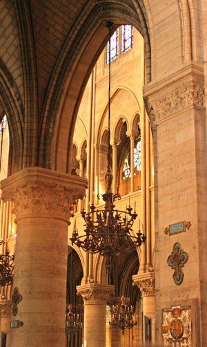Arch Architectural Column Architectural Feature Architecture Built Structure Church Column Interior No People Paris Spirituality