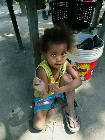 Young Aeta Philippines Filipino Aeta Indegenous Children Portrait Child Young Girl Haduan