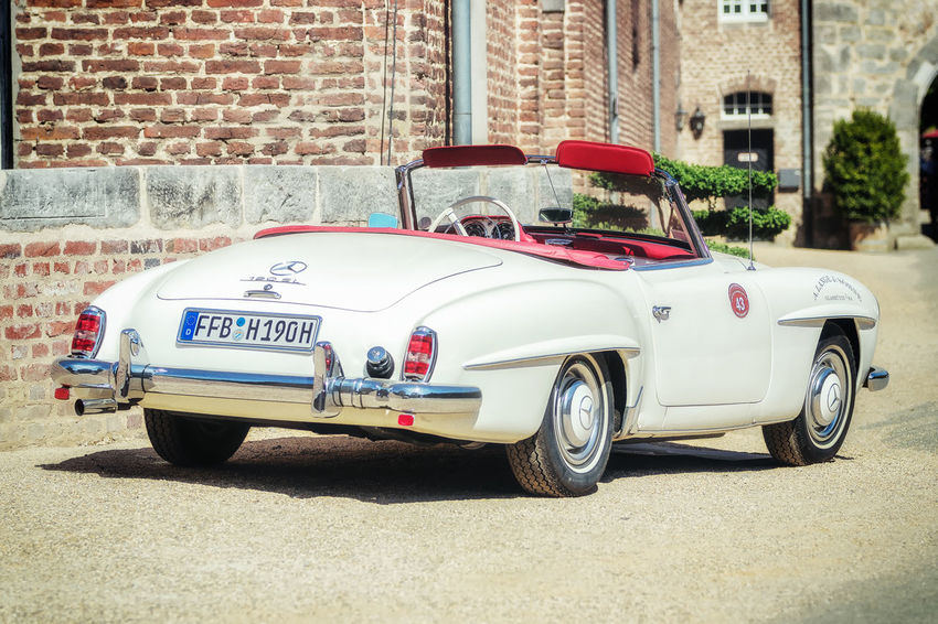 Mercedes-Benz SL 190 Cabriolet at Classic Days, Schloss Dyck. Classic Classic Days 2018 Classic Days Mercedes Mercedes 190 SL Mercedes-Benz Car Land Vehicle Luxury Motor Vehicle No People Retro Styled Vintage Car