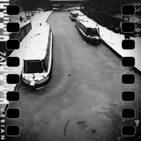 Home Houseboat Canal Banbury Canal Boats Snow ❄ Vehicle Parking Lot Parking Stationary