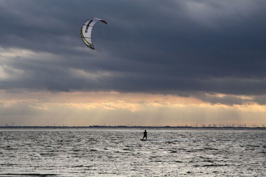 End Of Summer Capture The Moment Windyweather WeatherPro: Your Perfect Weather Shot Windsurfing Northsea Clouds And Sky Capturing Freedom Capturing Movement Sports Photography Langeoog