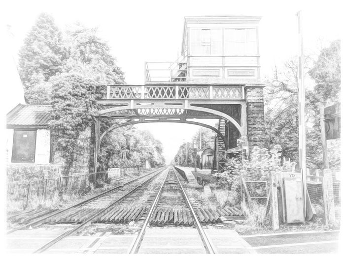 Wylam Station Railway IPhoneography Iphonephotography Iphone6plus Mobilephotography Stackablesapp Snapseed Picturesque Vintage Art