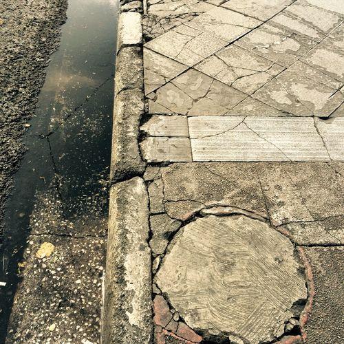 Asphalt #pavement #potholes #messi #street #athens #eyeem