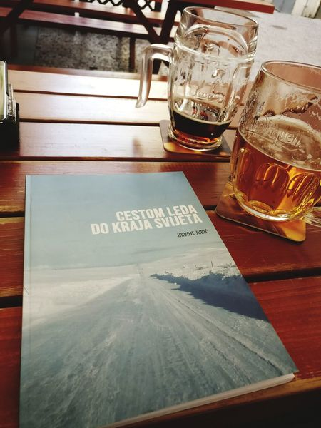 When in Prague - read and drink! Drink Refreshment Drinking Glass Indoors  Table Food And Drink Business Finance And Industry No People Close-up Wireless Technology Day