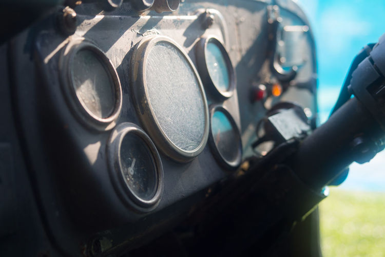 View Of Car Control Panel