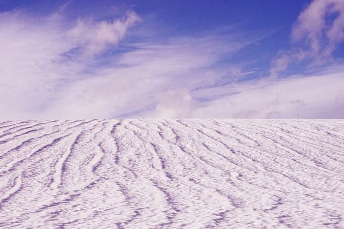 Check This Out Last Snow Sunny Winter Day No People Blue Sky Learn & Shoot: Leading Lines Simplicity Minimalism Walking Alone... Nature On Your Doorstep No Edit/no Filter Blue Wave The Great Outdoors With Adobe The Great Outdoors - 2016 EyeEm Awards
