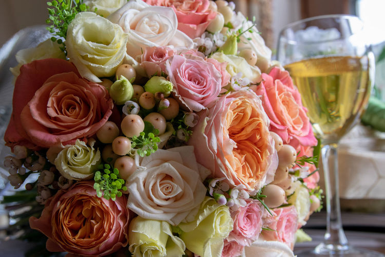 Close-up of rose bouquet