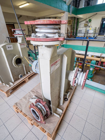 High angle view of machine
