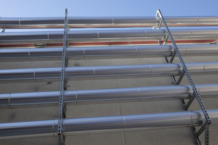 Conditioning Industrial Steam Conditioner Outside Pipe - Tube Pipelines Pipes Stainless Steel  Steel Steel Structure  Tubes