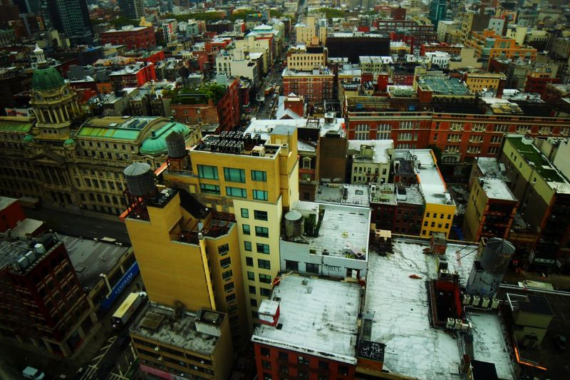 Cityscape of soho Manhattan from above Colorful Cityscape Aerial View Soho Building Exterior City High Angle View Architecture Built Structure Cityscape Building No People Residential District Backgrounds City Life Outdoors Day Modern Office Building Exterior Full Frame Transportation Skyscraper