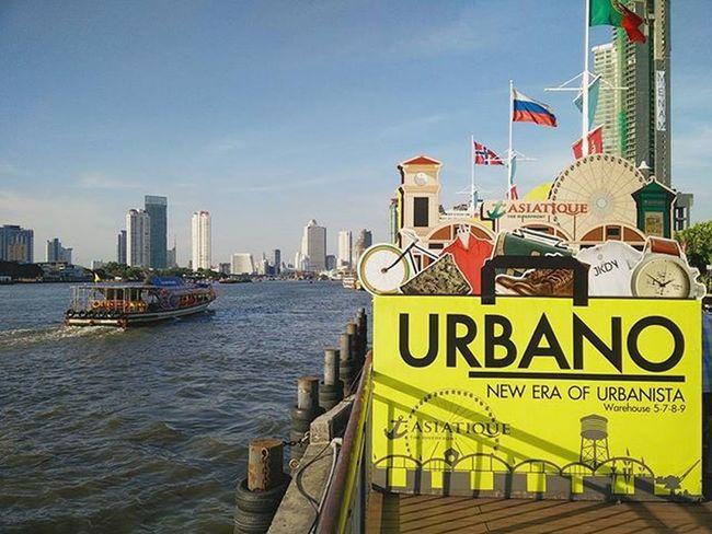 🛥 ------ ------ ------ River Ferry Cruise Riverfront Asiatique BKK Bangkok Bangkokcity Urbano Warehouse Thailand Watphrayakrai Hkig Travel Oneplusone Photography