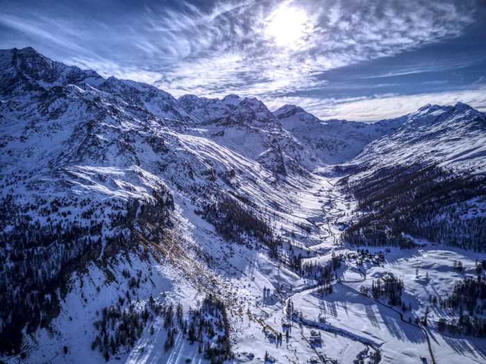 Drone  Aerial Photography Beauty In Nature Cloud - Sky Cold Temperature Day Dronephotography Landscape Mountain Mountain Range Nature No People Outdoors Range Scenics Sky Snow Snowcapped Mountain Tranquil Scene Tranquility Weather Winter